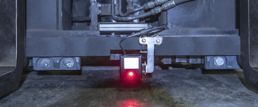 Forklift Laser Guide Mounted on carriage